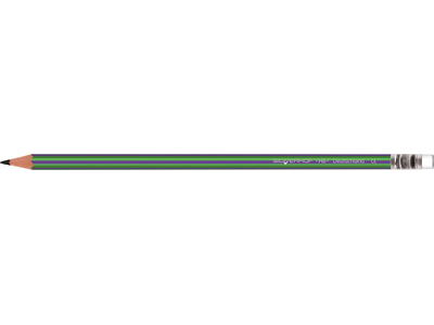 Карандаш чернографитовый, AZIMUT, HB, с ластиком, пластиковый, арт.121223-03