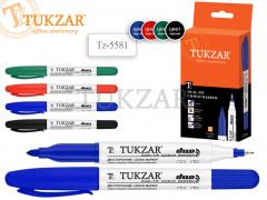 Маркер 2-х сторонний перманентный DUO, для CD/DVD, ЧЕРНЫЙ, пулевидные наконечники 0.5 / 2 мм, арт. TZ 5581