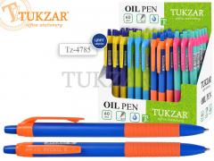 Авторучка шариковая: СИНЯЯ, яркий цветной корпус, чернила на масляной основе NEW, арт. TZ 4785