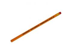 Карандаш чернографитный BUDGET, HB, шестигранный, желтый корпус, с ластиком