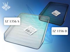 Лоток для бумаг: горизонтальный, металлический, TZ 1356, цвет серебряный