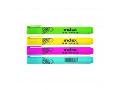 Набор текстмаркеров, удлиненный корпус, 4 цв., PVC - пенал, арт. IMH510/4