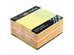 Бумага для заметок с липким слоем, разм. 76х75 мм, 3 цвета (неон+пастель) РАДУГА, 400 л, арт. I433811