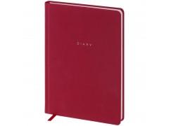 """Ежедневник недатир. A5, 136л., кожзам, OfficeSpace """"Grace pearl"""", бордовый, серебр.срез ENA5_32585"""
