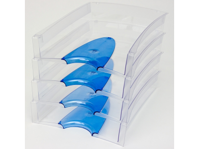 Лоток для бумаг горизонтальный Lux, арт. IT808, синий