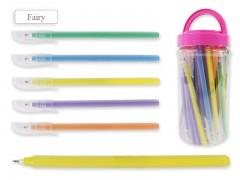 Ручка шариковая В БАНКЕ, цвет чернил - СИНИЙ, матовый цветной корпус, арт. Fairy
