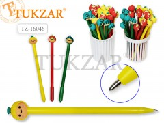 Ручка шариковая с игрушкой-насадкой ЗАБАВНЫЕ ФРУКТЫ, цв.чернил - синий 0,7мм, цвета корпуса в ассортименте, арт. TZ 16046