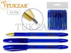 Ручка масляная, пластиковый синий корпус, цв.чернил синий, арт. TZ 4760
