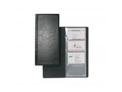 Визитница VISIFIX на 128 визиток, пластиковая обложка, размер 25,3х11,5 см, черная, арт. 2308-01