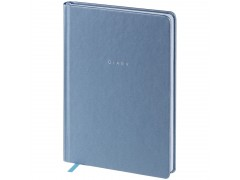 """Ежедневник недатир. A5, 136л., кожзам, OfficeSpace """"Grace pearl"""", серый, серебр.срез ENA5_32587"""