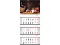 "Календарь квартальный 3 бл. на гребне OfficeSpace ""Sweet dreams"", 2022г. 318393"