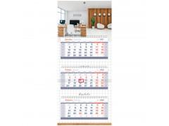 "Календарь квартальный 3 бл. на 3 гр. OfficeSpace Mini Premium ""Office"", 2022г. 318436"
