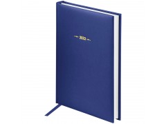 "Ежедневник датированный 2022г., A5, 176л., балакрон, OfficeSpace ""Ariane"", синий Ed5_37790"