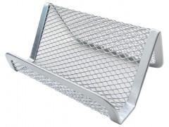 Подставка для визиток металлическая, серебро, арт. Z902A