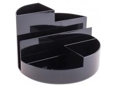 Подставка для канц. принадлежностей ПРОФИ, круглая, черный