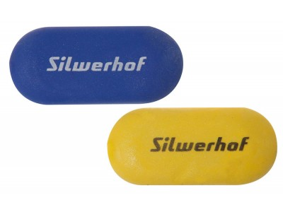 Ластик Silwerhof 181116 Пластилиновая коллекция 56x25x10мм каучук синтетический желтый/синий картонн