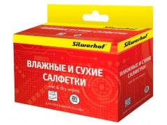 Салфетки Silwerhof для планшетов и смартфонов коробка 10шт сухих+10шт влажных, арт. 671204