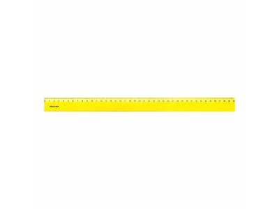 Линейка Silwerhof 160141 пластик дл.40см ассорти флуорисцентный спайка