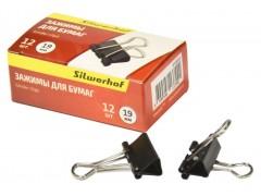 Зажимы Silwerhof 510002 сталь 19мм черный