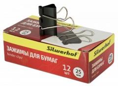 Зажимы Silwerhof 510003 сталь 25мм черный