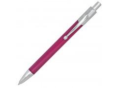 Ручка шариковая, автоматическая, металлический корпус, красный, хромированные детали, арт. IMWT1141/RD