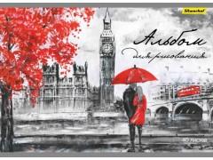 Альбом для рисования Silwerhof 911155-74 40л. A4 Лондон 1диз. мел.картон офс.лак склейка