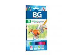 Карандаши цветные BG «FORESTER», 12 цв, шестигранные, 2.8 мм, 12/24, арт. KR12C 4646