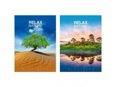 "Ежедневник BG, ""Relax nature"", ф.А5, 352 стр., ассорти, недатированный, ламинация, арт. Ен5_7БЦ352_лам 4031"