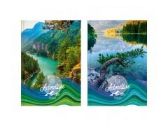 "Ежедневник BG, ""Green planet"", ф.А5, 352 стр., ассорти, недатированный, ламинация, арт. Ен5_7БЦ352_лам 4032"