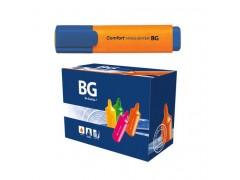 """Текстмаркер BG 1-5 мм """"COMFORT"""", оранжевый, шоу бокс, 24/96/576 шт упак, арт. TM 6164"""