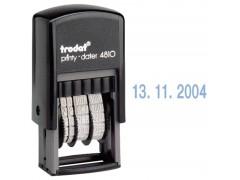 Мини-датер пластмассовый, цифровой, 3,8 мм, банковский, месяц цифрами, арт. 4810В