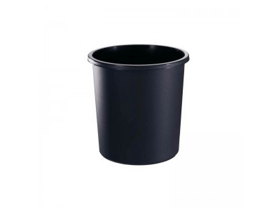 Корзина для бумаг, цельнолитая,черная, 18 литров, арт. КР41