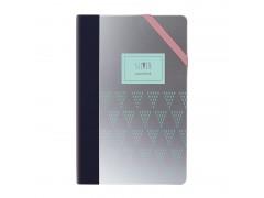 Ежедневник недатированный Milan, А5, 208 стр., Silver Green, серебряный, арт.57052SGR