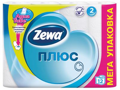 """Бумага туалетная """"ZewaПлюс"""" , двухслойная, 12 рул./уп."""