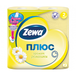 """Бумага туалетная """"ZewaПлюс"""" цветная с нежным ароматом ромашки, двухслойная, 4рул/уп"""