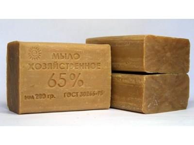 Мыло хозяйственное твердое 65% 200гр., РБ