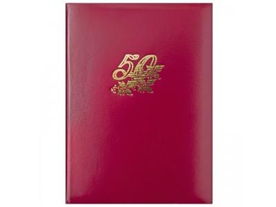Папка 50 ЛЕТ, бумвинил, ф. А4, арт. АПБ4-008