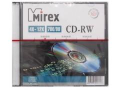 Диск CD-RW Mirex 700 Мб 4-12x Slim case UL121002A8S