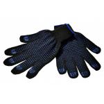 Перчатки трикотажные с ПВХ покрытием из 6-ти нитей 7,5 кл.вязки, цв.черный