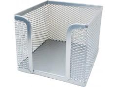 Подставка (бокс) для бумаг металлическая Horer, серебро, арт. Z701А