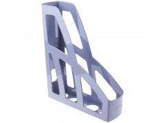 Лоток для бумаг ЛИДЕР, вертикальный, серый, 7 см., арт. ЛТ121