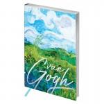 "Ежедневник недатир. A5, 136л., кожзам, Greenwich Line ""Vision. Van Gogh. Fields"", тон. бл, сер. срез ENA5-25302"