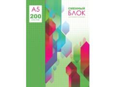 Сменный блок для тетрадей для записей BG 200 л. А5 4-х цветный (4х50 л.), арт. СБ5-200 8003