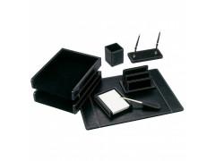 Настольный набор Good Sunrise BK7W-1A (7 предметов) кожзам/МДФ черный