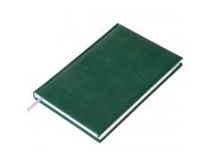 """Ежедневник недатированный А5 переплёт твёрдый 272стр. индивид.блок:линия """"VALENCIA"""" (зелёный) иск. кожа поролон ляссе, арт.ЕНик5т136 8696"""