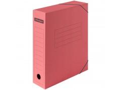 Папка архивная на резинках OfficeSpace, микрогофрокартон, 75мм, красный, до 700л. 225423