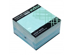 Бумага для заметок с липким слоем , 76х76 мм, голубая пастель, 450 л., арт. I433816