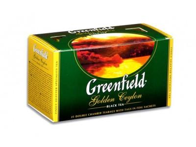 """Чай черный пакетированный """"Greenfield"""" Голден Цейлон, 25 пакетиков"""