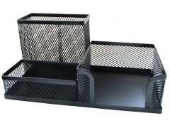 Подставка для канцелярских принадлежностей металлическая Horer, черная, арт. Z9058