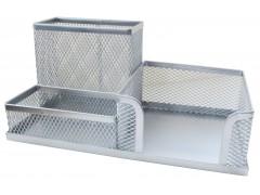 Подставка для канцелярских принадлежностей металлическая Horer, серебро, арт. Z9058